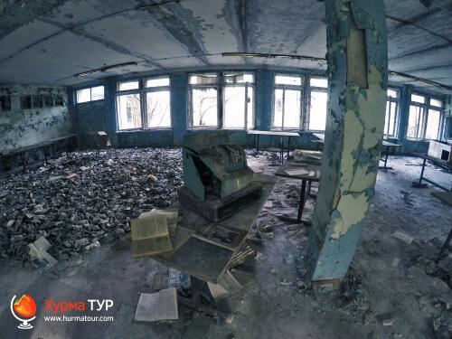 Заброшенная школа в Припяти, Чернобыльская зона